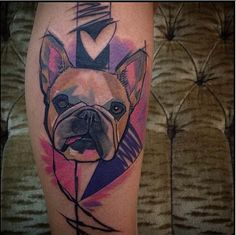 Who's a good boy? This tattoo by Szabi is the correct answer. #InkedMagazine #Pug #tattoo #dog #Inked #tattoos
