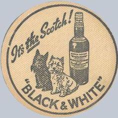 Black & White Scotch coaster