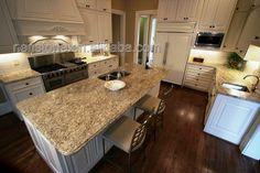Pinterest giallo ornamental granite white cabinets and countertops