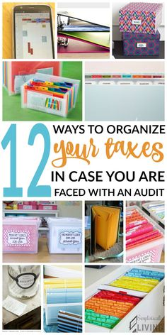 12 ways to organize taxes, Keep Tax Documents Organized, Stay Organized for Tax Season, Ways to Keep Taxes Organized Organization Lists, Financial Organization, Organisation Ideas, Organizing Ideas, Craft Space, Space Crafts, Pantry Inspiration, Tax Help, Hospital Pictures
