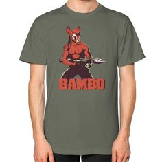 BAMBO YOUR FOREST COMMANDO Unisex T-Shirt (on man)