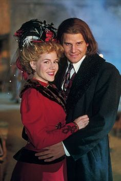 """Darla (Julie Benz) and Angel (David Boreanaz) in the 1800s. From the episode: """"Darla"""""""