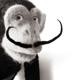 Chimpanzee felting tutorial...head to toe chimp toy...looks pretty advanced for me, but maybe someday...