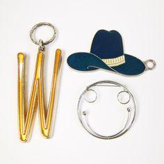 vintage western keychains