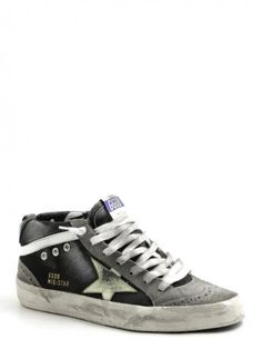 Golden Goose-man-sneakers mid star nero/grigio-black/grey-Golden Goose 2014