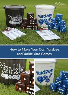 Backyard games 496803402646229824 - Summer is finally here and what better way to enjoy the outdoors with family and friends than some classic yard games; Yardzee and Yarkle. Source by malebolgianono Outdoor Yard Games, Diy Yard Games, Lawn Games, Diy Games, Backyard Games, Outdoor Toys, Outdoor Fun, Party Games, Outdoor Dining