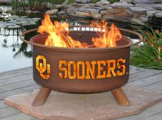Oklahoma Sooners Firepit