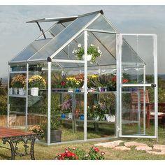 Palram Hybrid 6 Ft. W x 4.5 Ft. D Polycarbonate Greenhouse & Reviews   Wayfair