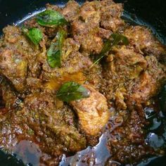 Karaikudi Chicken Fry / Karaikudi Chicken Varuval recipe by Akum Raj Jamir at BetterButter Veg Recipes, Curry Recipes, Indian Food Recipes, Cooking Recipes, Indian Chicken Dishes, Indian Dishes, Chicken Fry Recipe Indian, Fried Chicken Recipes, South Indian Chicken Recipes