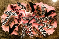 Animal print high heels cookies!