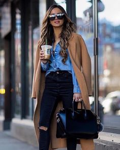 Winter outfits 2019 trendy cold outfits for teen girls cardigans for work dressy. - Winter outfits 2019 trendy cold outfits for teen girls cardigans for work dressy for school women g - Outfit Jeans, Camel Coat Outfit, Cute Outfits With Jeans, Casual Winter Outfits, Winter Fashion Outfits, Look Fashion, Outfits For Teens, Spring Outfits, Autumn Jeans Outfits