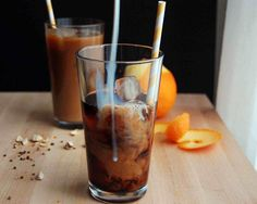 orange and cardamom infused cold brewed coffee