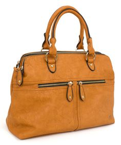 6ef0af1849c Another great find on  zulily! Cognac  amp  Goldtone Satchel by Rebecca   amp