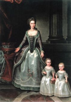 1783 Dorothea with her daughters, Wilhelmine and Pauline