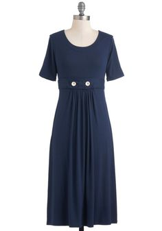 Understated Style Dress, #ModCloth  Could replace white buttons with vintage shell buttons!