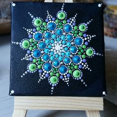 Image result for snowflake rock paint