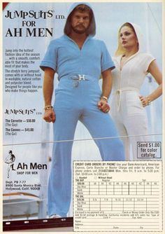 These jumpsuits could be really useful! It would take a truck load of confidence to sport these 70s jumpsuits. Adding sunglasses to the outfit sure makes it seem even cooler. Fun Cruising!