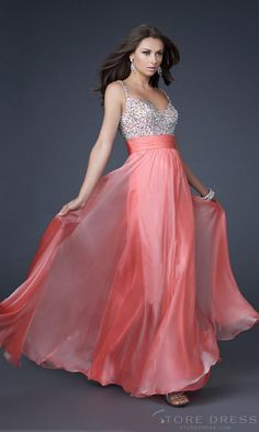 A-line  Spaghetti Straps Floor-length Chiffon Evening /Prom Wedding  Party Dress