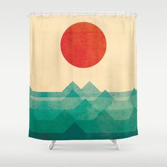 The ocean, the sea, the wave Shower Curtain
