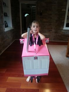 "Isabella's ""Pretty Pink Tractor"" Costume"