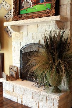 Fireplaces on pinterest stone fireplaces mantels and for Austin stone fireplace