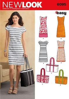 New Look NL6095 Schnittmuster Kleid, 22 x 15 cm