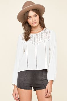 Amuse Society Sunset Rose Woven Top- White