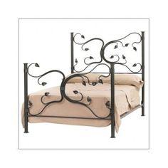 Bed California King Beds Frame Bedroom Furniture Footboard Headboard Iron Frames #Ornate
