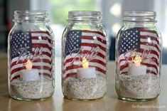 Check out these Fourth of July Crafts. You can make any celebration patriotic with these of July Crafts for your home. Fourth Of July Decor, 4th Of July Celebration, 4th Of July Decorations, 4th Of July Party, July 4th, 4th Of July Ideas, Cubicle Decorations, Memorial Day Decorations, Church Decorations