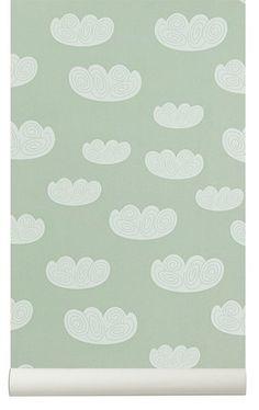 ferm LIVING ferm LIVING Cloud behang - Mint