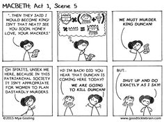 Macbeth, part 5 — Good Tickle Brain: A Mostly Shakespeare Webcomic