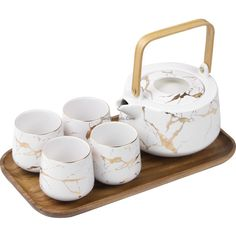 Enjoy Making Tea With Stone Stripes Modern Tea Set. It Makes A Ideal Tea Set Gift For Yourself Or Someone Special.