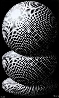 m. c. escher | escher three spheres i sculptures m c escher angels and devils ...