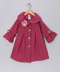 {Fuchsia Heart Coat by Just Kids} Cute for Valentines!