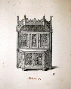 Design for a cabinet from Gothic Furniture of the 15th Century... by AWN Pugin 1835. Plate 2. #awnpugin #augustuspugin #pugin #gothicrevival #gothic #neogothic #cabinet #gothicfurniture #book #art #wood #19century #gothicrevivalfurniture #woodworking #gothiccabinet #woodwork #sketch #woodcraft #drawing #sketchpencil #design #bookfurniture #medievalfurniture #sketchfurniture #designforfurniture #furnituredesigner #designpencil #sketchpencil #furniture #drawingfurniture #designfurniture de…