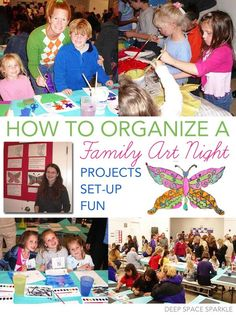 Art Nights: AME 043 How to organize a family art night at your children's schoolHow to organize a family art night at your children's school Parent Night, Family Fun Night, Top Art Schools, Family Art Projects, Family Crafts, Family Engagement, Engagement Ideas, School Fundraisers, School Fundraising Ideas