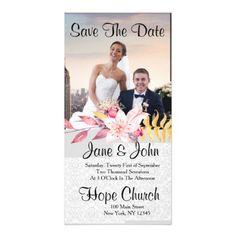 #Elegant Save The Date Card - #saturday #saturdays