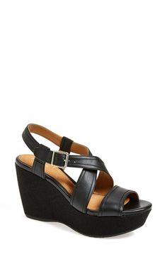 Clarks®+'Nadene+Ziva'+Wedge+Sandal+(Women)+available+at+#Nordstrom