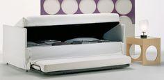 Letti singoli: Letto Golf 305G di @OGGIONI STORAGE BEDS | Design: Studio Aerre | Anno: 1999 | Materiali: Tessuto | #design #letto #salvaspazio