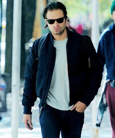 Sebastian Stan seen out in New York City on October 5, 2015