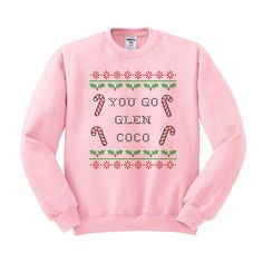 You Go Glen Coco Crewneck Sweater, Mean Girls Christmas Sweater, Mean Girls Movie Sweater, Candy Cane Sweater, Christmas Party, 90's Movie