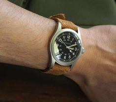 """36 """"Μου αρέσει!"""", 1 σχόλια - G. (@greenstraps) στο Instagram: """"IR series leather suede strap#inlove#leather #realleather #suede #hamiltonkhakimechanical #handmade…"""""""