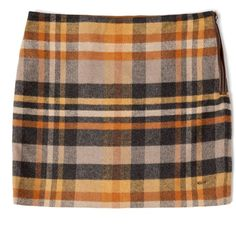 Tommy Hilfiger Kent woolen skirt (1.890 UYU) ❤ liked on Polyvore featuring skirts, mini skirts, bottoms, saias, short brown skirt, brown skirt, a line skirt, wool skirt and mini skirt