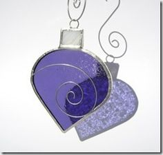 stained glass purple christmas gift box ball 2_thumb