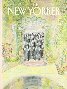 "The New Yorker - Monday, July 1990 - Issue # 3415 - Vol. 66 - N° 24 - Cover by ""Sempé"" - Jean-Jacques Sempé The New Yorker, New Yorker Covers, Illustrations, Illustration Art, Middle School Art, Art School, High School, West Art, New Yorker Cartoons"