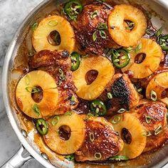 Hey gorgeous, you got plans tonight?  Tap the link in my profile to go to the recipe for Skillet Pinapple BBQ Chicken  @budgetbytes . . #skilletmeals #chickendinner #pineapple #pineapplebbq #bbqchicken #chickenthighs #easydinner #easymeals #easymeal #dinnerideas #dinnerinspo #yummyfood #yummyinmytummy #instayum #feedfeed #f52grams #huffposttaste #thekitchn #buzzfeast #buzzfeedfood . . https://www.budgetbytes.com/2017/09/skillet-pineapple-bbq-chicken/