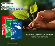 Our product papermill reusable notebook is very helpful to build a healthy environment. Our product is reusable, and one papermill notebook is equal to 17 mature trees and 7000 gallons of water which are required to produce one ton of paper. So the normal books changed their version as a reusable book. By our product, we Save water and save trees.  #papermill #reusablebooks #rewritablebooks #ecobooks #smartbooks #digitalbooks #saveearth #rrr #reuse #rewrite #gogreen