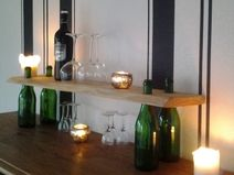 Flaschen Holzregal Bar Küche Deko-Design-Regal