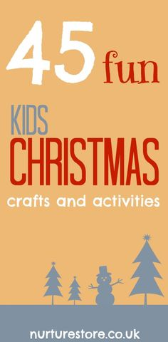 45 Winter and Christmas activities for kids - lots of art, crafts and play ideas! Great ideas for holiday fun with the grand kids! Christmas Activities For Kids, Preschool Christmas, Christmas Projects, Christmas Themes, Winter Christmas, Christmas Holidays, Winter Activities, Christmas Jokes, Kid Activities