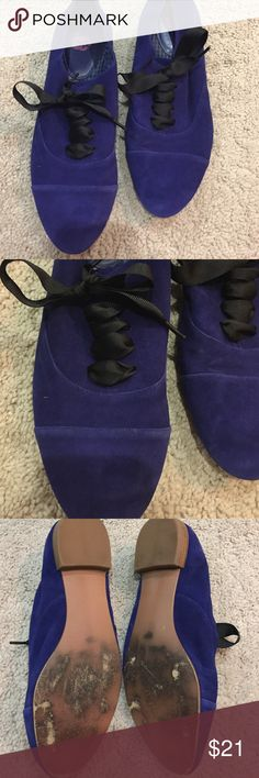 BP Nordstrom Blue flats with black laces Adorable shoes from Nordstrom in a blue purple tone soft to the touch with black laces. Dress up or down! bp Shoes Flats & Loafers